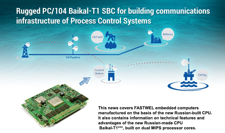 Rugged PC/104 Baikal-T1 SBC for building communications